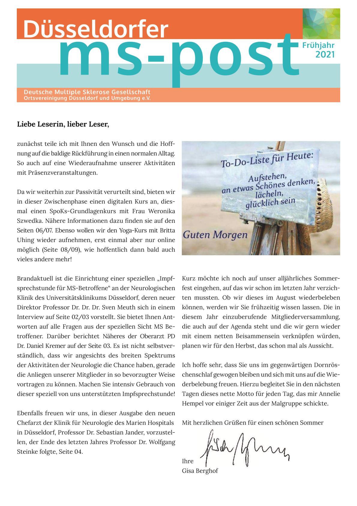 MS-Post Ausgabe Frühjahr  2021