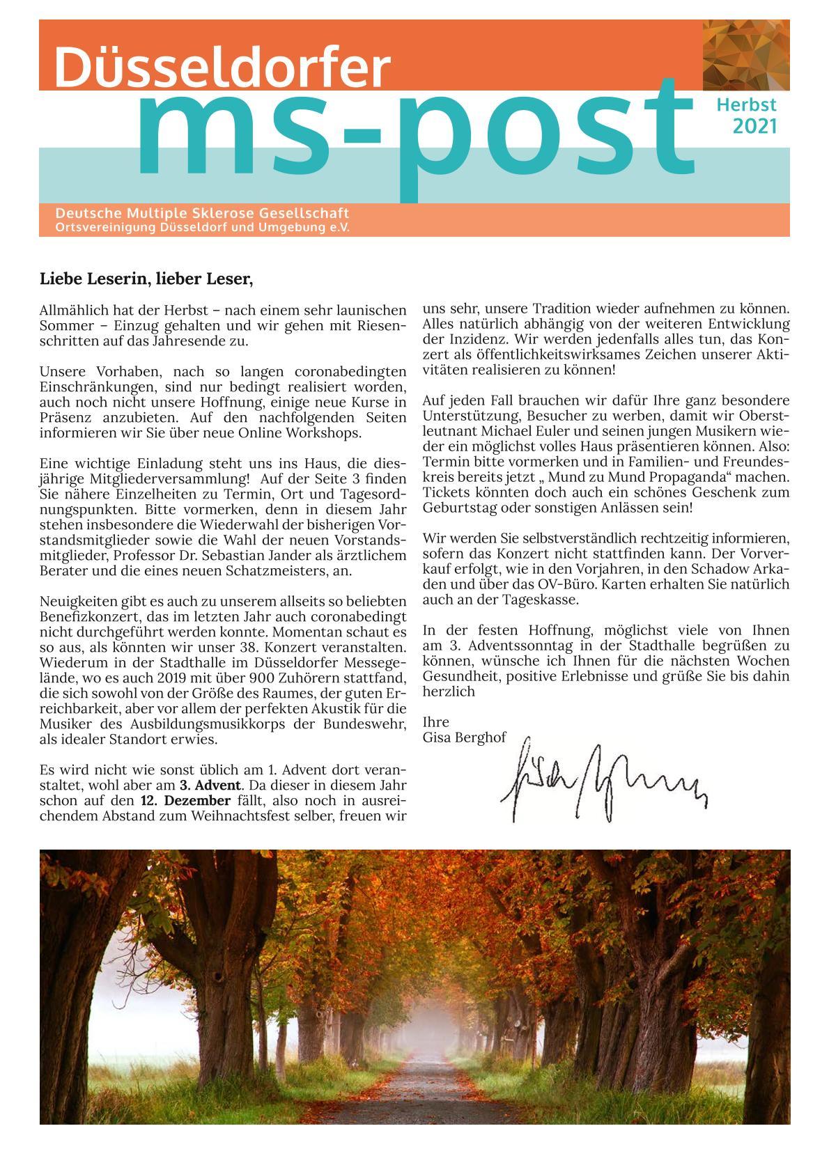 MS-Post Ausgabe Herbst 2021